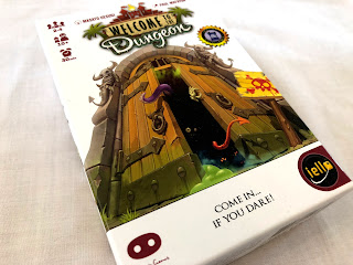 The game box for Welcome to the Dungeon, published by IELLO.
