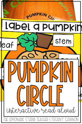 Teach main idea and retell of key details with Pumpkin Circle.  Lesson plans, questions, daily tasks, mentor sentence, vocabulary, anchor charts, and more are included with this Interactive Read Aloud Resource.