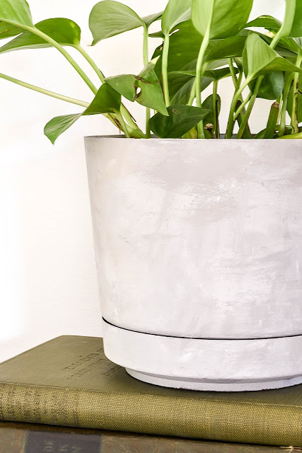 How to Make faux concrete vases