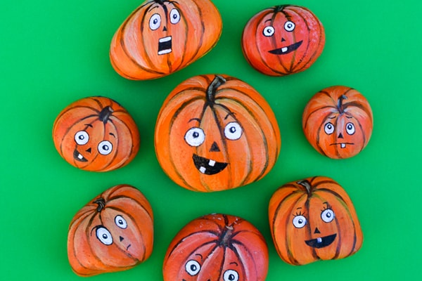 pumpkin rock painting ideas