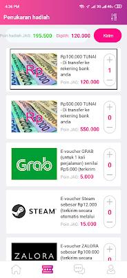 Cara Melakukan Penukaran Poin Jag dengan Uang Tunai Gratis Rp100.000
