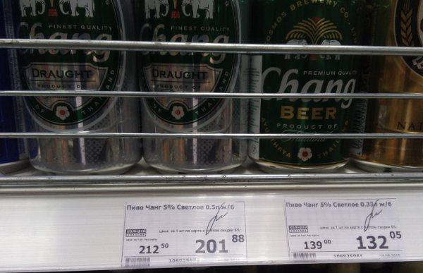 Баночное пиво Чанг