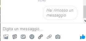 messaggio rimosso