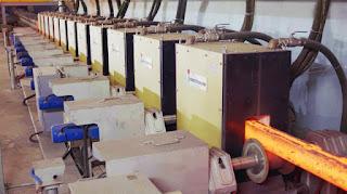 Hệ thống máy cán gia nhiệt hiện đại tại nhà máy thép Tung Ho