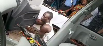 Man Forced By Police To Show How He Hid 2 AK47 Guns Inside A Car In Ekiti