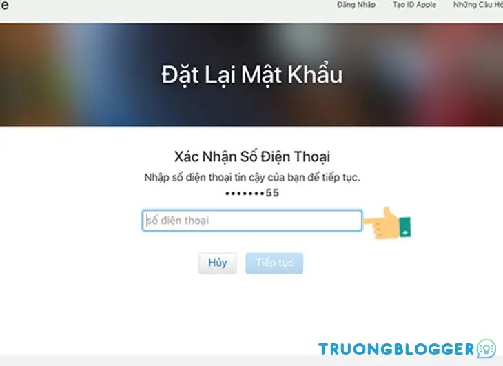 Cách khôi phục mật khẩu iCloud bị quên đơn giản