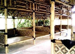 Desain warung makan pinggir jalan, lesehan, kecil, minimalis, sederhana, warung makan dari bambu