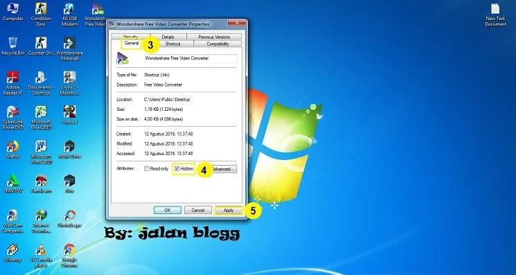 Cara Menyembunyikan Icon Aplikasi Shortcut Di Perangkat Komputer Laptop Windows 7 Tanpa Software