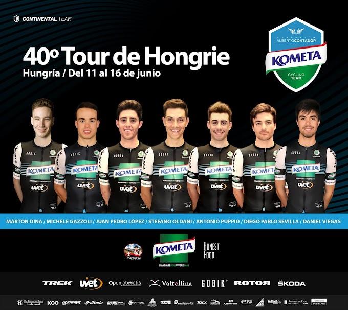 Una renovada Vuelta a Hungría, es el gran objetivo de la temporada y escenario del debut de Márton Dina en el Kometa Cycling Team