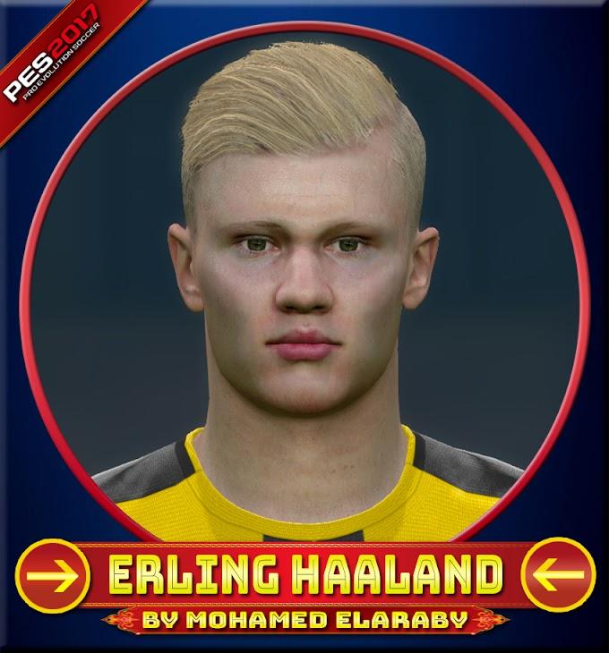 Erling Haaland Face Borussia Dortmund Player - PES 2017