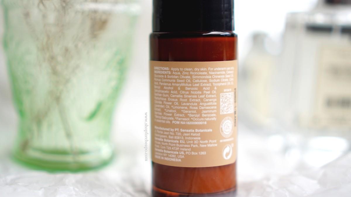 sensatia botanicals deodorant review