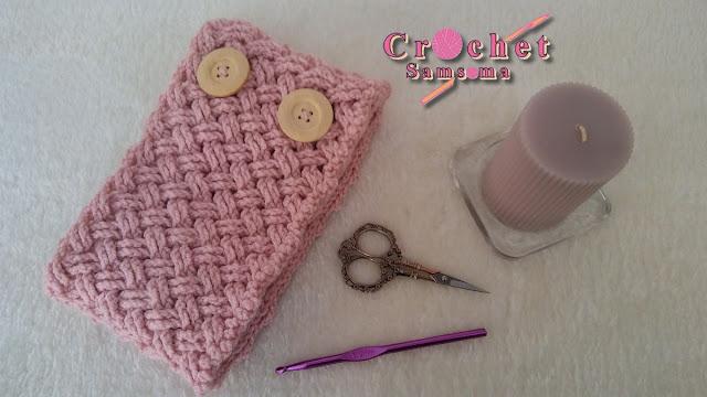 كروشيه سكارف بازرار . كروشيه كوفية بأزرار . crochet scarf . كروشيه بوفاندا .  كروشيه سكارف . Crochet scarf 3D . كروشيه كوفية .