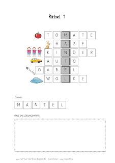 Wort-Bild-Rätsel 1-5