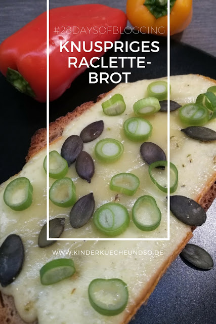 knuspriges Ofenbrot mit geschmolzenem Raclette-Käse