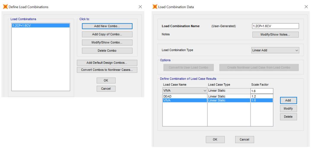 Como hacer combinaciones de carga en SAP2000