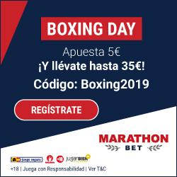 Marathonbet supercuota Boxing Day 26-27 diciembre 2019