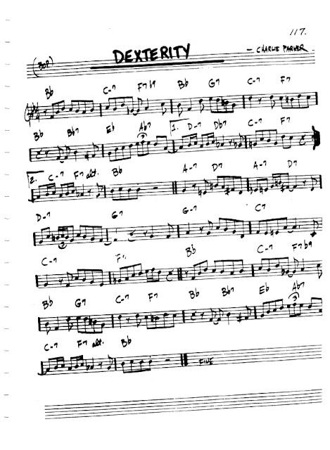 Partitura Violín Charlie Parker
