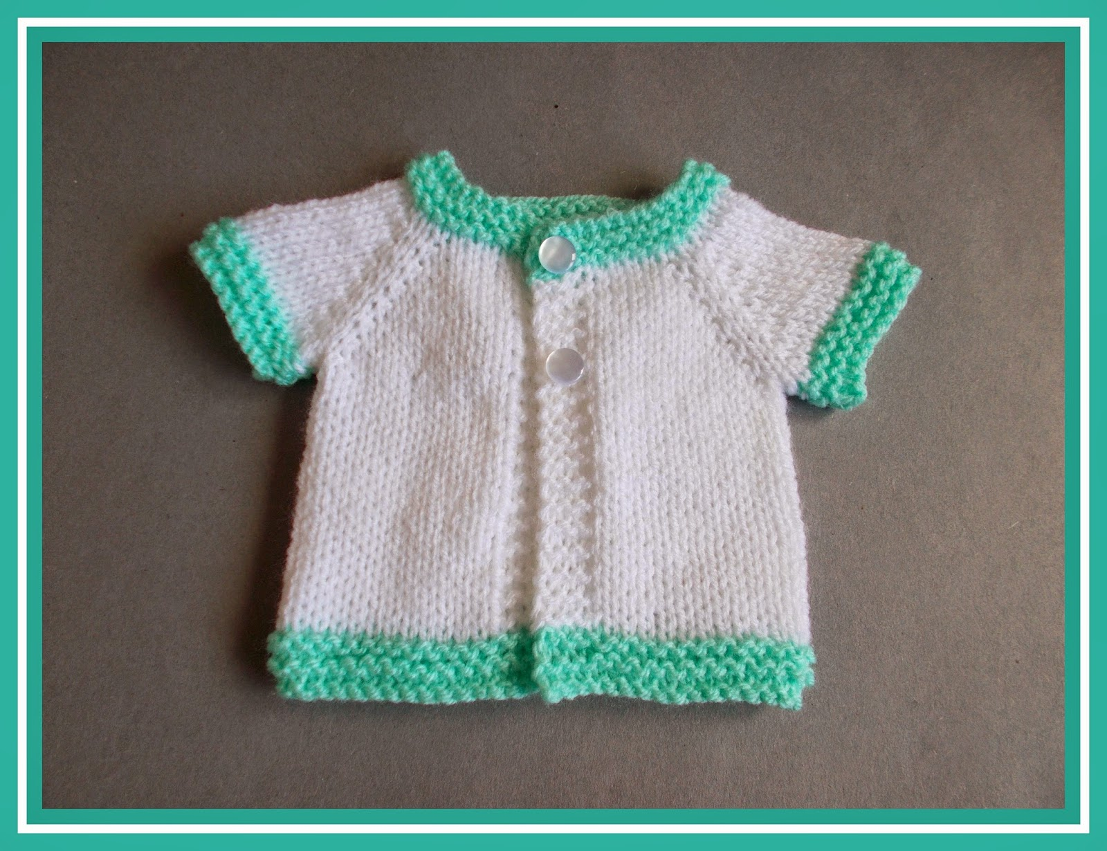 66af7f20b0f9 Marianna s Lazy Daisy Days  Topaz - Premature Baby Cardi
