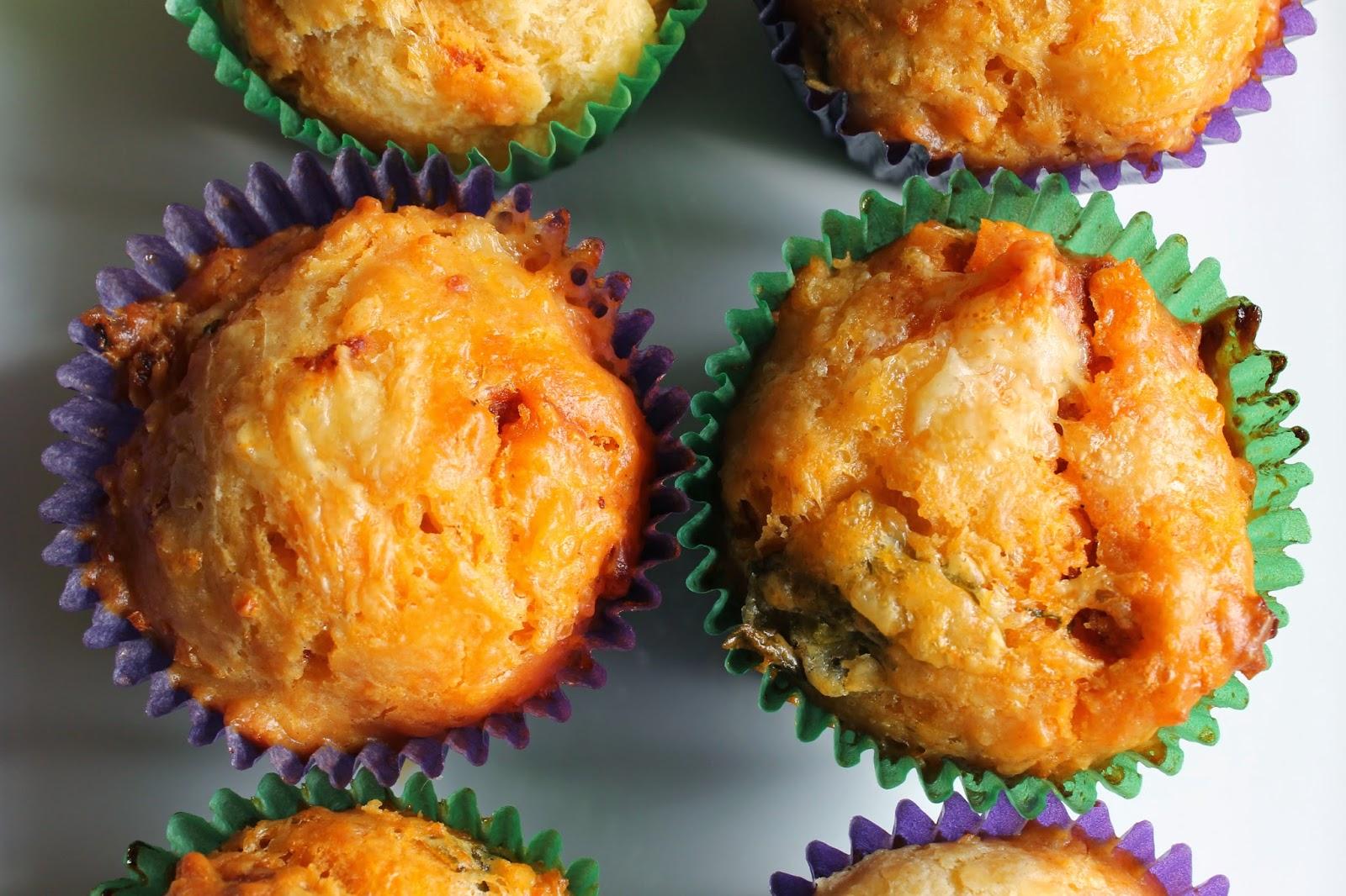 cheese chorizo basil muffins