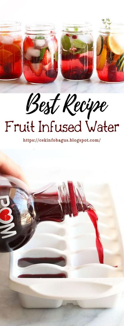 Fruit Infused Water #healthydrink #easyrecipe
