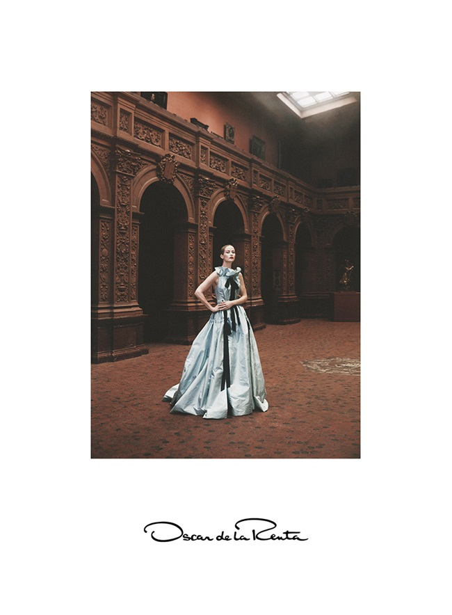 2016 SS Oscar de la Renta Serenity Blue Gown Editorials