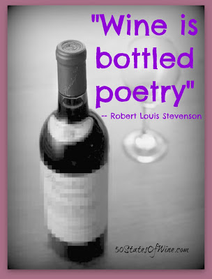 Wine is bottled poetry