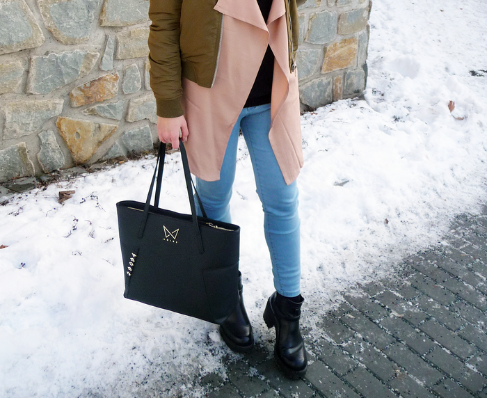 BEIGE TRENCH COAT FROM ZAFUL.COM AND NOIRE HANDBAG KABELKA