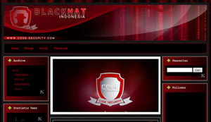 Downloa Blogger template black hat red