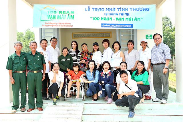 NSƯT Trịnh Kim Chi cùng mẹ con Lý Hương về Tây Ninh trao nhà tình thương - ảnh 1