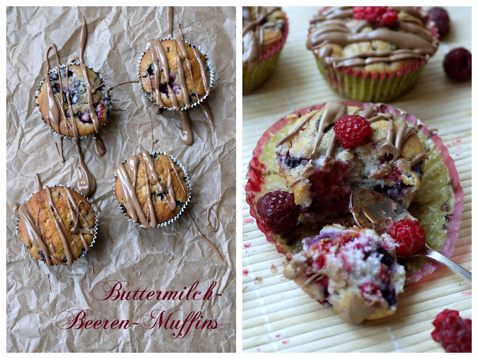 Experimente Aus Meiner Kuche Buttermilch Beeren Muffins