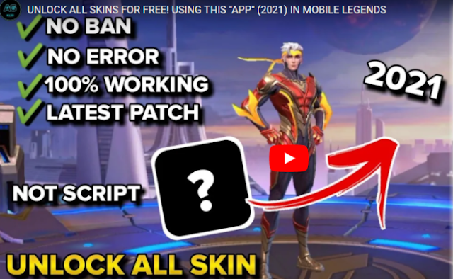"""UNLOCK ALL SKINS FOR FREE! USING THIS """"APP"""" (2021) IN MOBILE LEGENDS"""