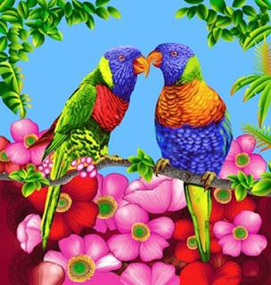 Selimut Rosanna King Sutra Parrot