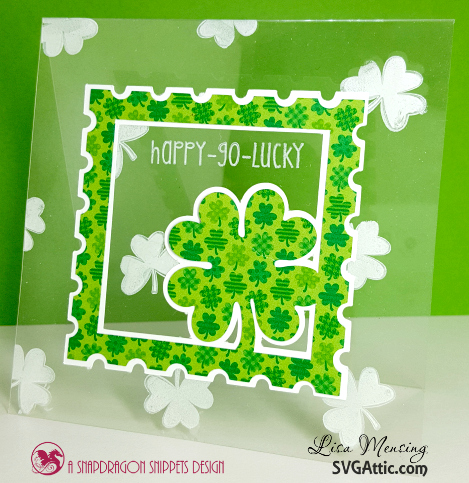 This is an image of St. Patrick's Day Card using SVG Attic Lucky Me Kit