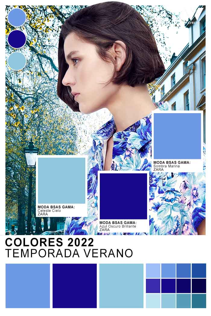 celestes y azules colores de moda 2022 verano