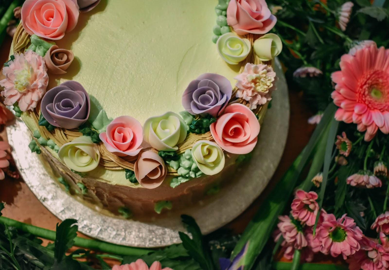 Fine Pretty Pastel Flower Birthday Cake Dolly Dowsie Funny Birthday Cards Online Ioscodamsfinfo