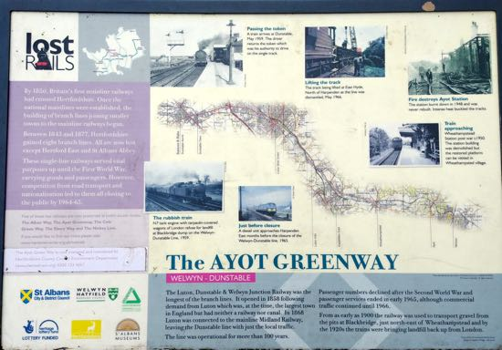 Photograph of map of The Ayot Greenway. Image by Hertfordshire Walker released under Creative Commons BY-NC-SA 4.0