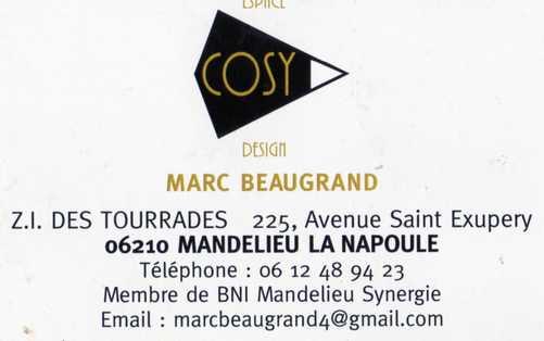 La Carte De Visite Du Jour Et Sa Fiche Sur Le Site Cosy Mandelieu