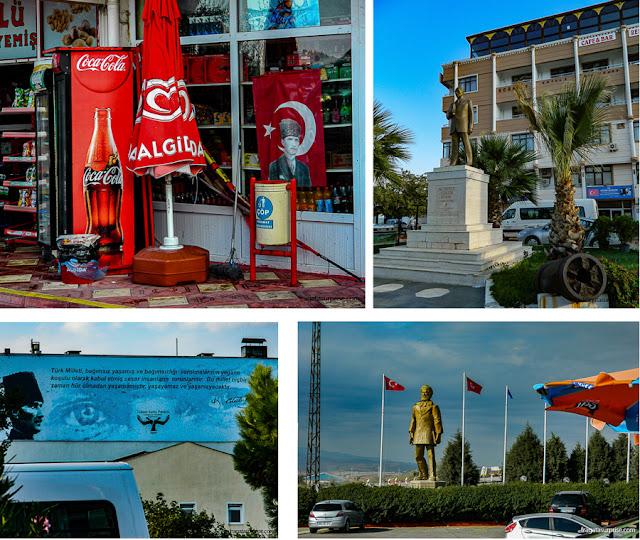 Homenagens a Atatürk nas cidades de Dardanelos, Turquia