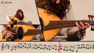 تعلم طريقة عزف أغنية على جناح الطير من التراث الأردني للفنان فهد نجار على العود