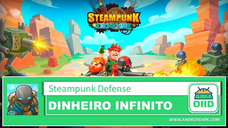 Steampunk Defense – APK MOD HACK – Dinheiro Infinito