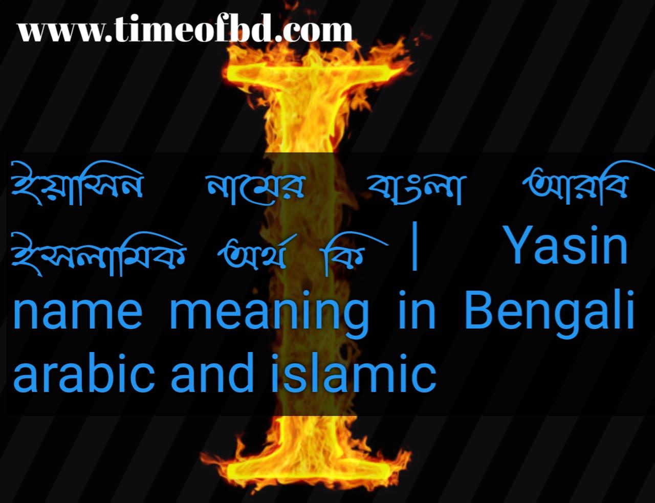 ইয়াসিন নামের অর্থ কি, ইয়াসিন নামের বাংলা অর্থ কি, ইয়াসিন নামের ইসলামিক অর্থ কি, Yasin name in Bengali, ইয়াসিন কি ইসলামিক নাম,