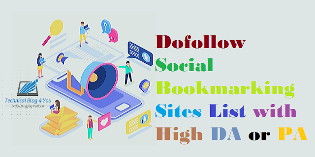 Dofollow Social Bookmarking Sites List with High DA and PA to Boost SEO in 2020
