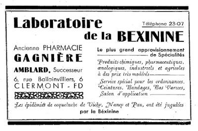 Publicité ancienne d'Auvergne
