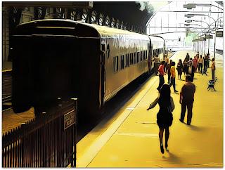 Irene Menéndez Hastings (Soledad Villamil) corre na Estación Retiro (O Segredo dos Seus Olhos)