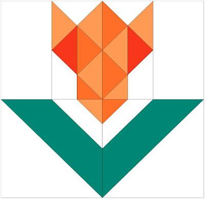 orange tulip block