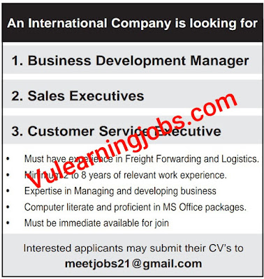 An International Company Jobs 2020 In Qatar For Manager, Sales Executive, Customer Service Latest