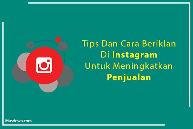 tips beriklan di instagram