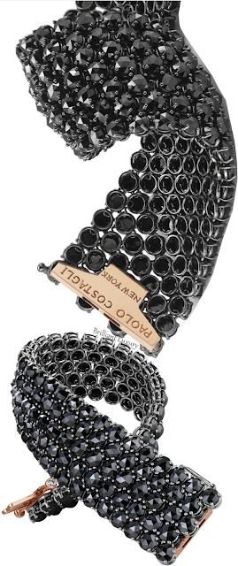 Paolo Costagli black diamond cuff bracelet #brilliantluxury