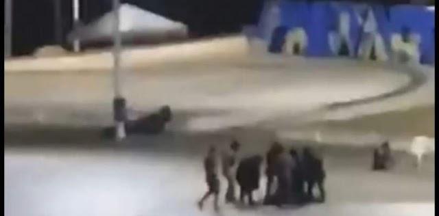 """Policial que """"surtou"""" na Barra é baleado e levado para o HGE"""