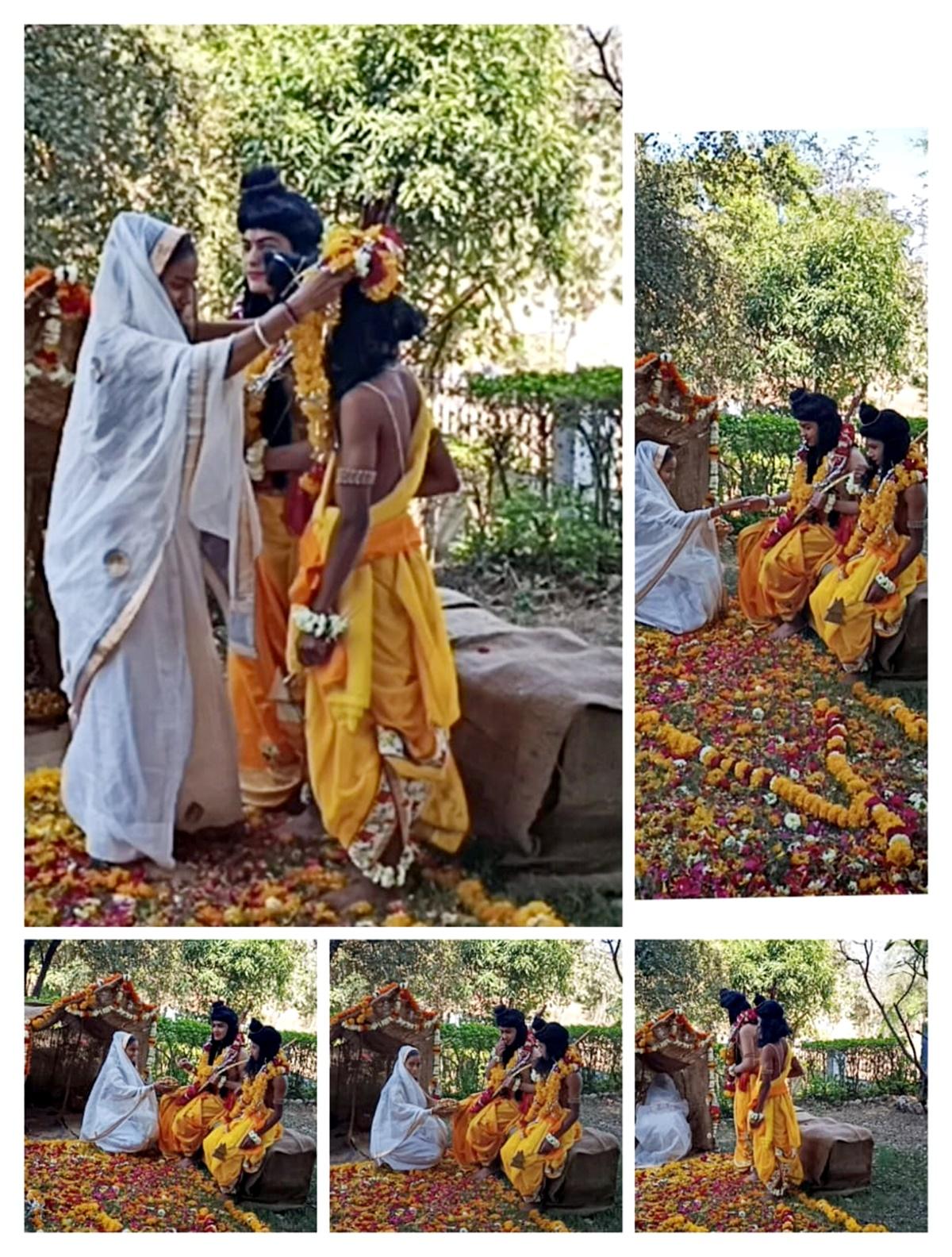 शारदा विद्या मंदिर विलिड्येज में मनाया गया शबरी उत्सव, जीवंत झांकी का किया प्रस्तुतिकरण